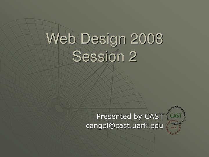 Web design 2008 session 2