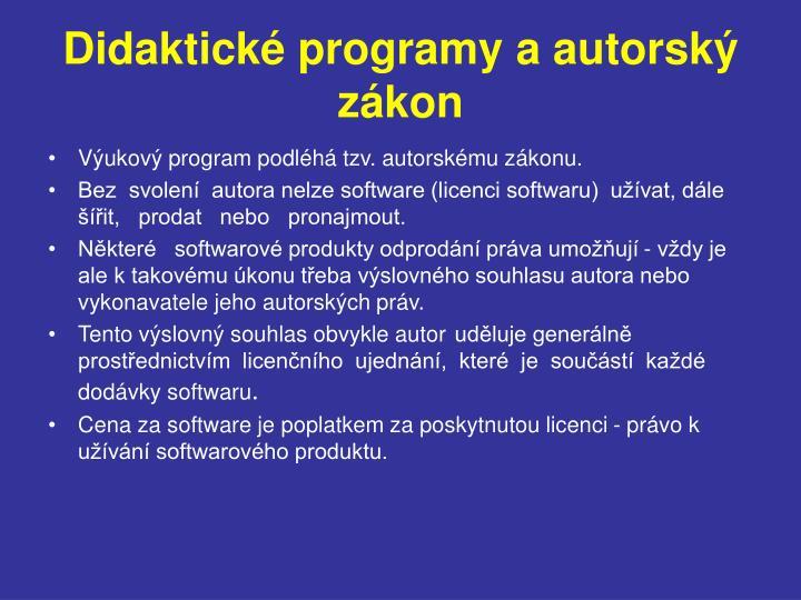 Didaktické programy a autorský zákon