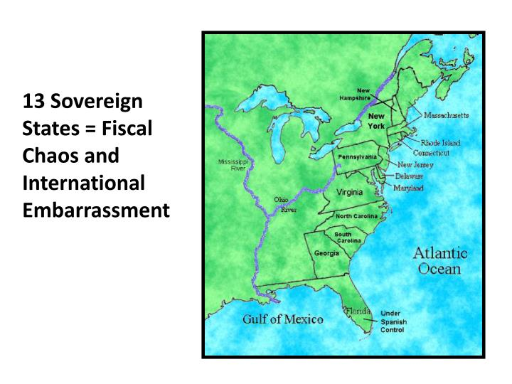 13 Sovereign States = Fiscal Chaos and International Embarrassment