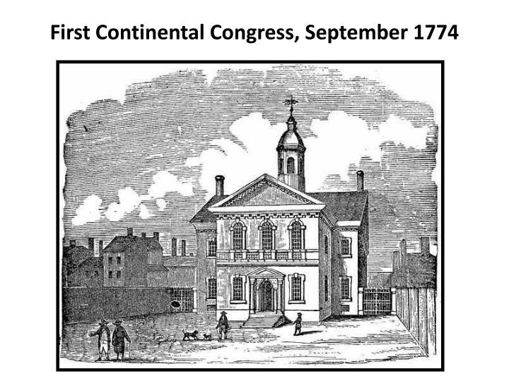 First Continental Congress, September 1774