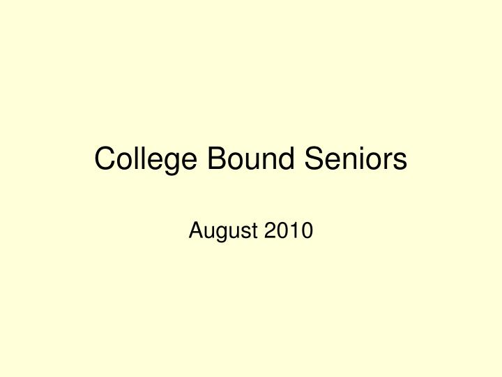 college bound seniors