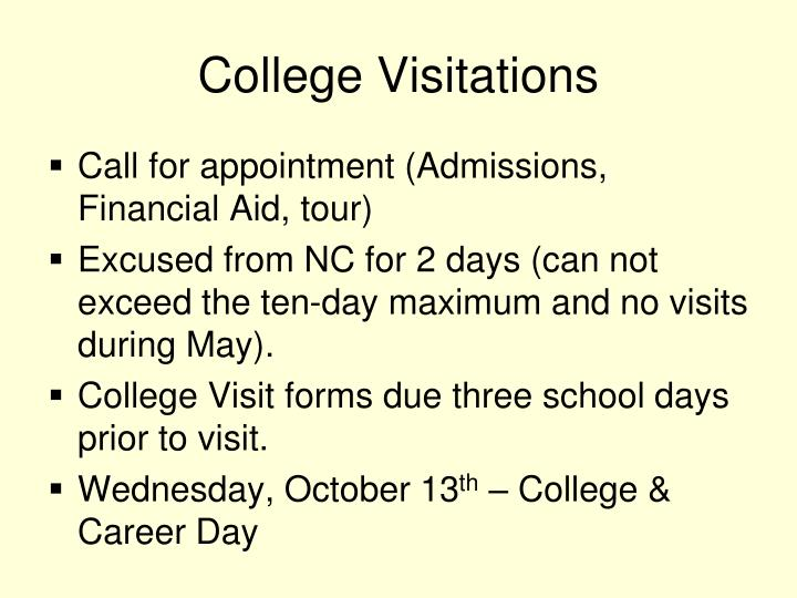 College Visitations