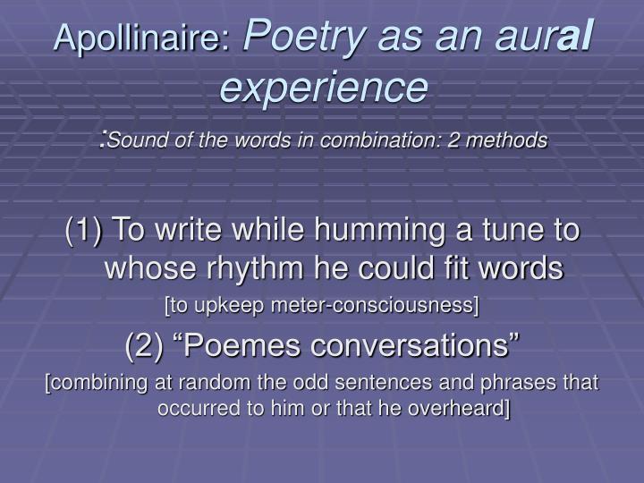 Apollinaire: