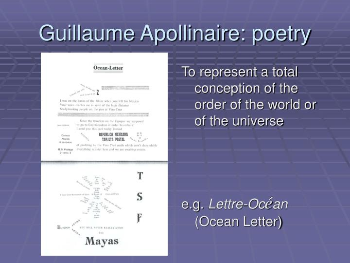 Guillaume Apollinaire: poetry