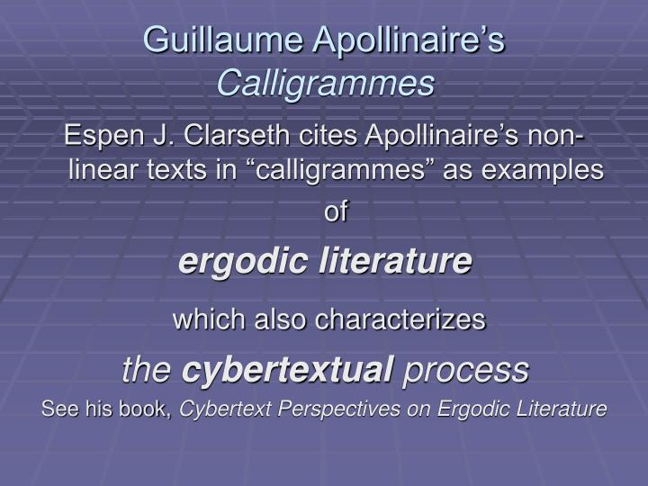 Guillaume Apollinaire's