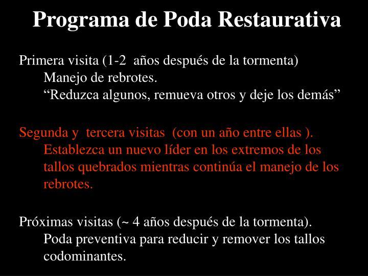 Programa de Poda Restaurativa