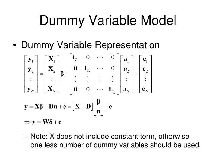 Dummy Variable Model