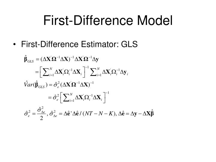 First-Difference Model