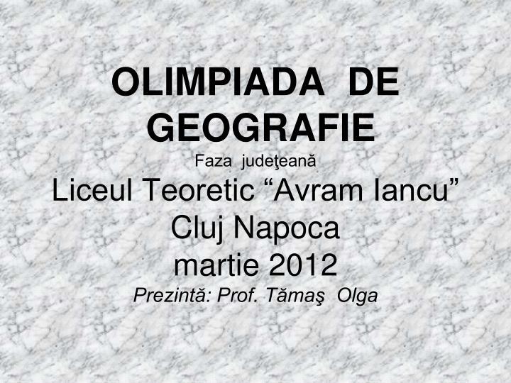 OLIMPIADA  DE