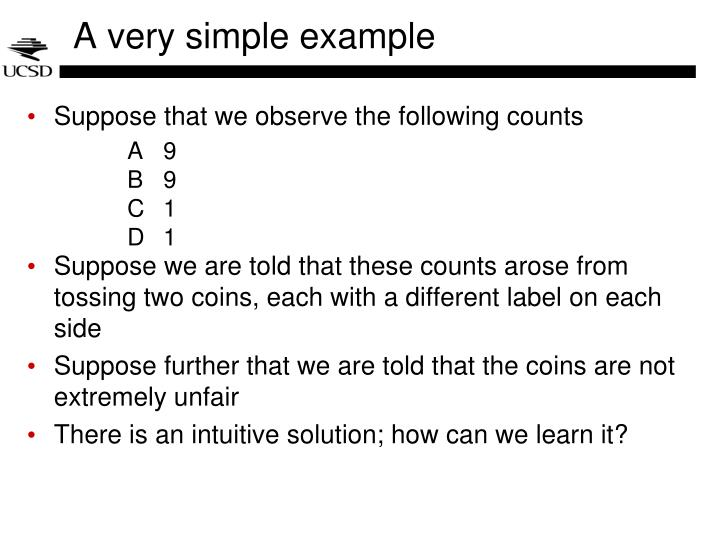 A very simple example