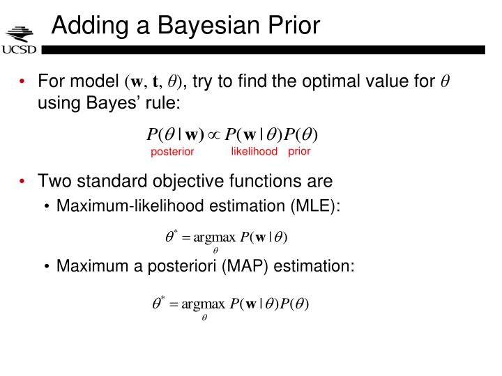 Adding a Bayesian Prior