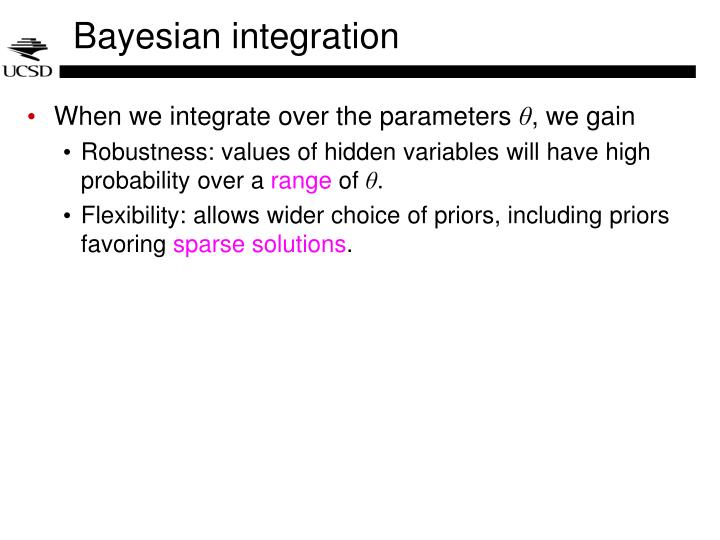 Bayesian integration