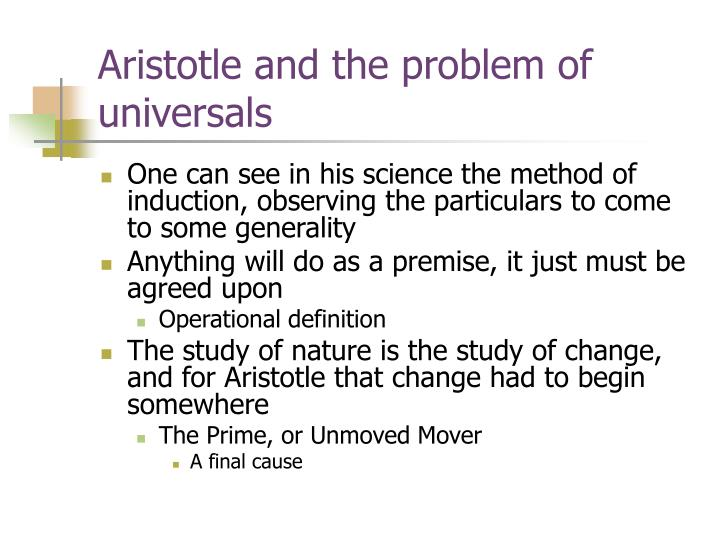 Aristotle and the problem of universals