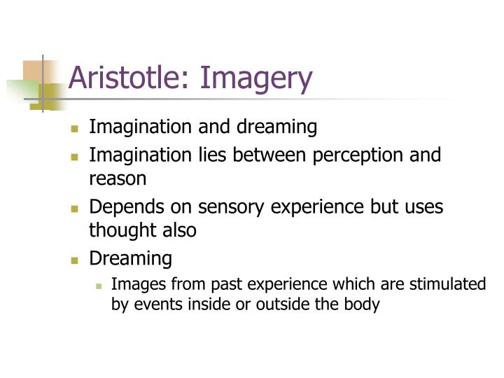 Aristotle: Imagery