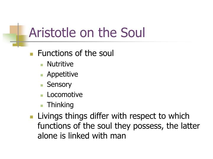 Aristotle on the Soul