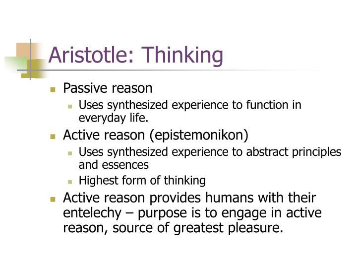 Aristotle: Thinking