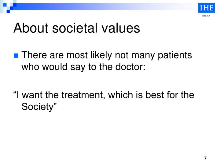 About societal values