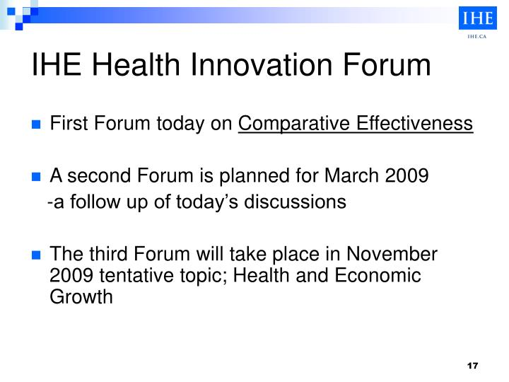 IHE Health Innovation Forum