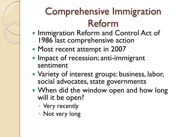 Comprehensive Immigration Reform: A Primer