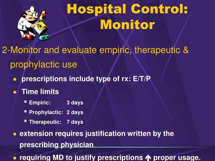 Hospital Control: Monitor