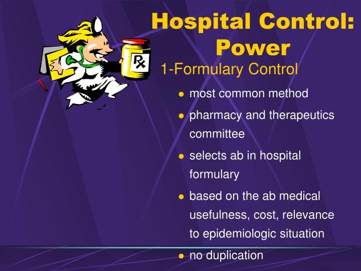 Hospital Control: Power