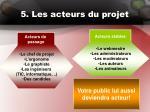 5 les acteurs du projet