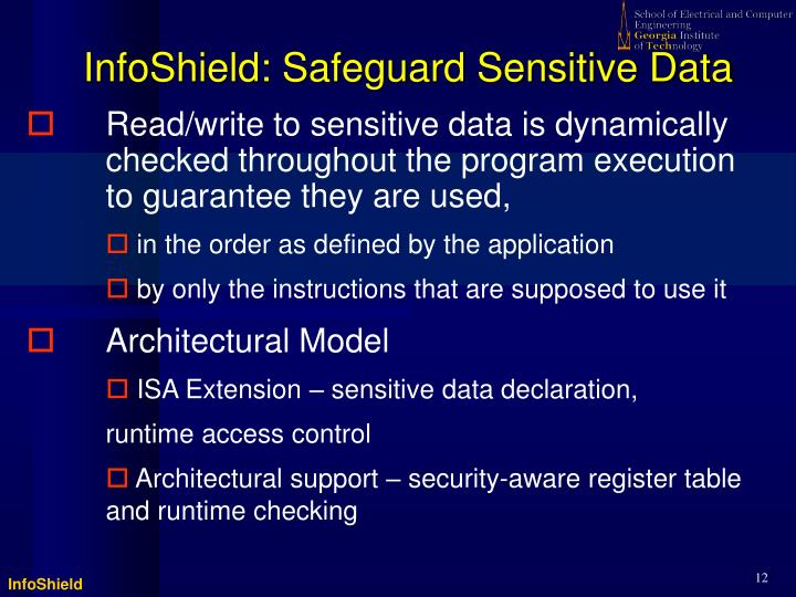 InfoShield: Safeguard Sensitive Data