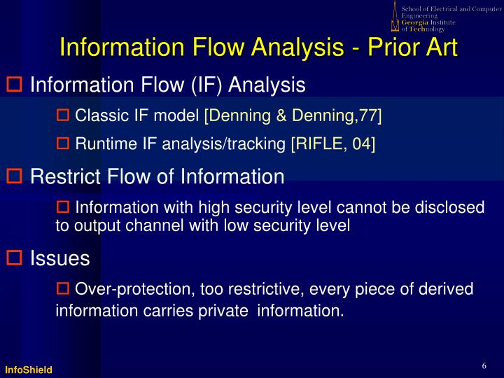 Information Flow Analysis - Prior Art