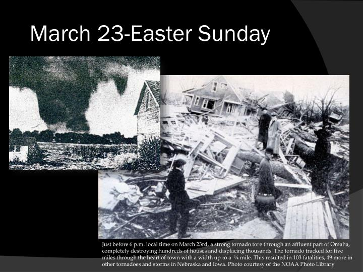 March 23-Easter Sunday
