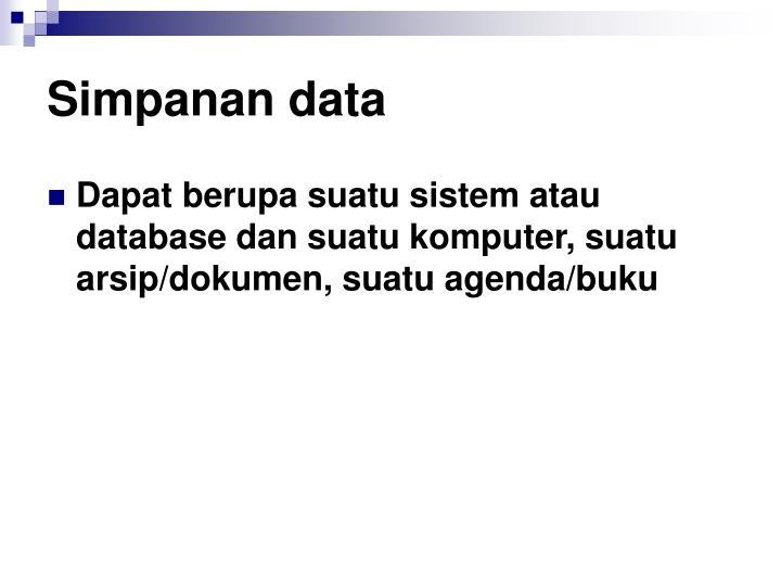 Simpanan data