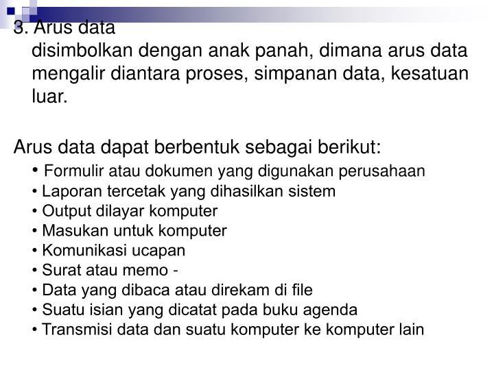 3. Arus data