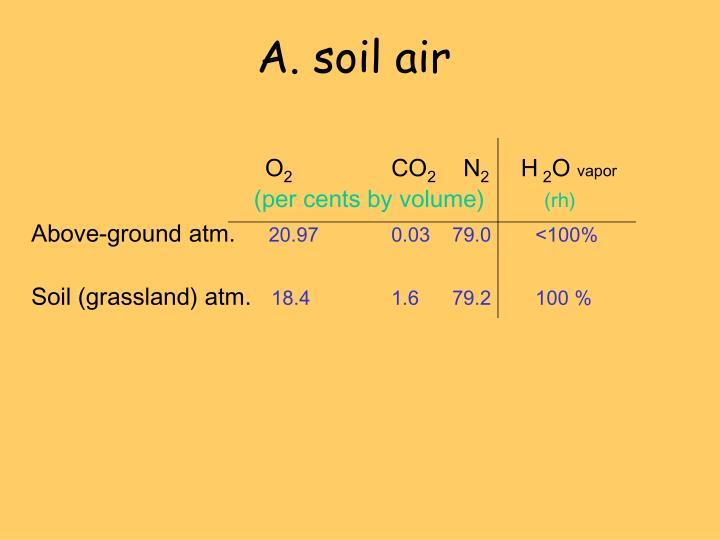 A. soil air
