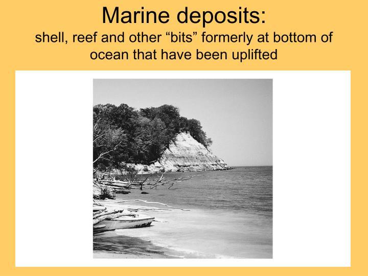 Marine deposits: