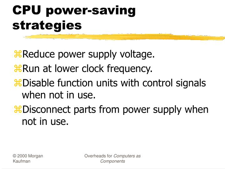 CPU power-saving strategies