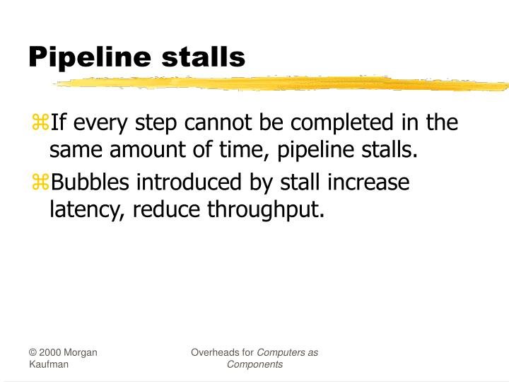 Pipeline stalls