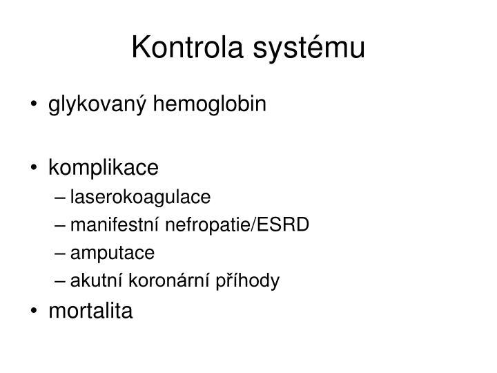 Kontrola systému