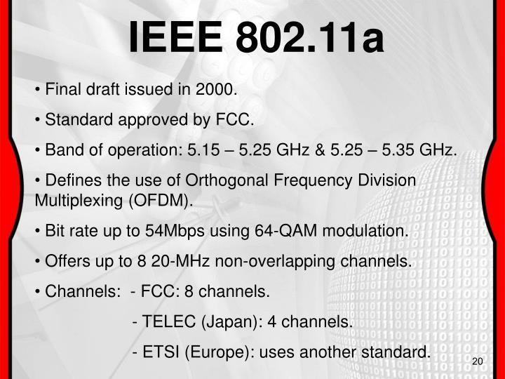 IEEE 802.11a