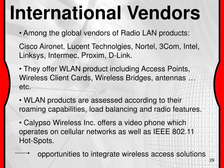 International Vendors