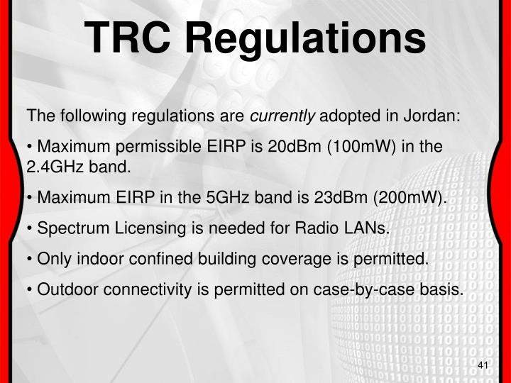 TRC Regulations