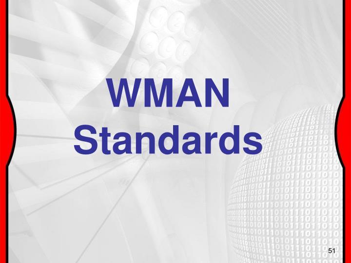 WMAN Standards