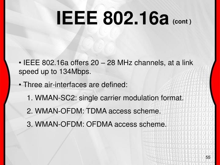 IEEE 802.16a