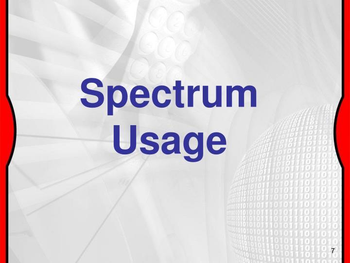 Spectrum Usage