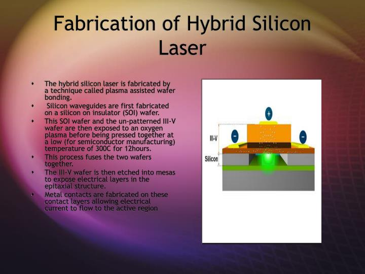 Fabrication of Hybrid Silicon Laser