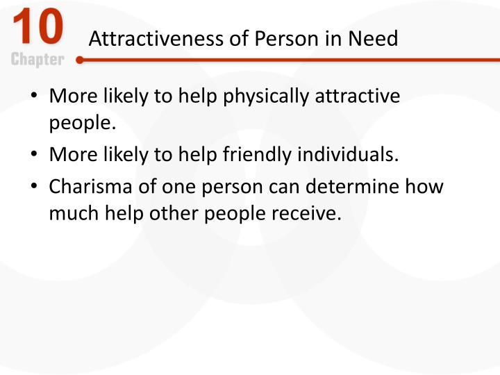 Attractiveness of Person in Need