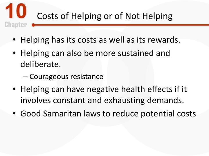 Costs of Helping or of Not Helping