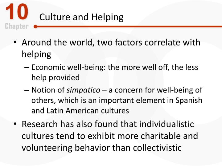 Culture and Helping