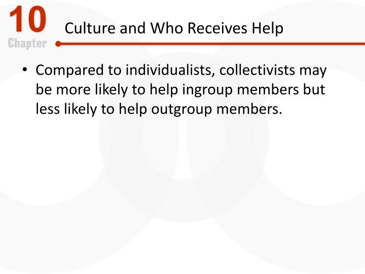 Culture and Who Receives Help