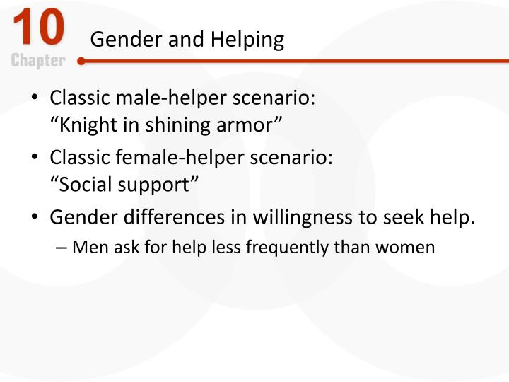 Gender and Helping