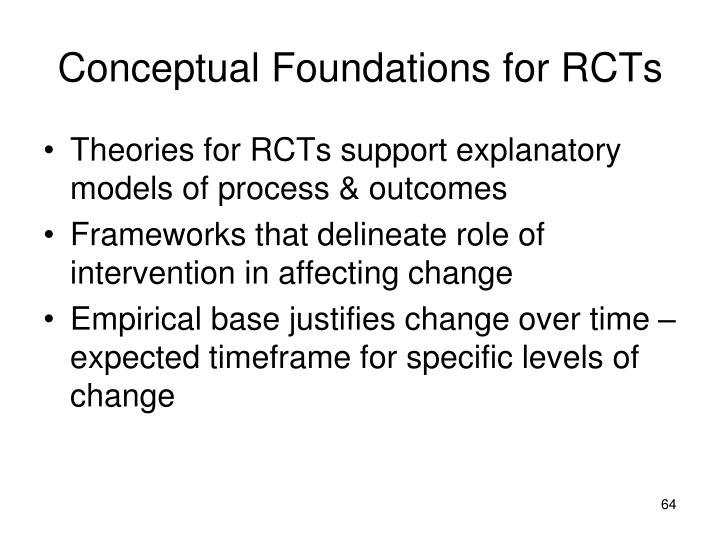Conceptual Foundations for RCTs