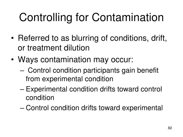 Controlling for Contamination
